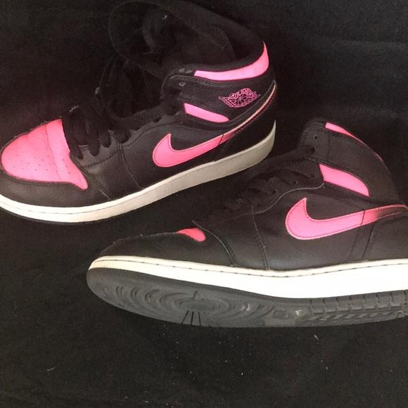 Nike Shoes | Pink Black Air Jordan High